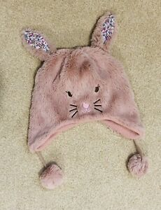 Excellent Condition  Winter Bunny Hat Baby Toddler Girls 1-3 Years Monsoon