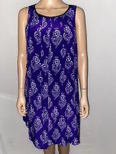 Maeve Anthropologie Hawaiian Dress S Summer Sleeveless Purple 100% Silk
