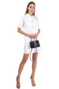 RRP €1875 GUCCI SYLVIE Leather Satchel Bag Web Stripe & Chain Trim Turnlock Flap