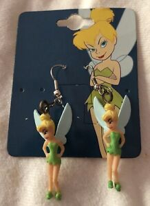 Adorable 1990s Tinker Bell Figure Earring Set Mint Carded