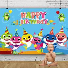 Baby Shark Backdrop for Photography Undersea World Whale Shark Starfish Seahorse