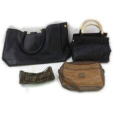 Fendi Leather PVC Canvas Hand Bag Shoulder Bag Accessories Pouch 4pc set 518118