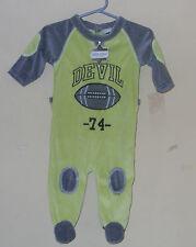 DEVIL CHILD SLEEPER FOOTED FLEECE PAJAMAS ONE PIECE   3-6 MONTHS