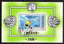 0145++MALI   BLOC COUPE DU MONDE DE FOOT MEXICO 86