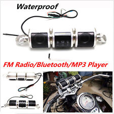 Motorcycle Handlebar Bluetooth Audio Sound System MP3 FM Radio Stereo Speakers