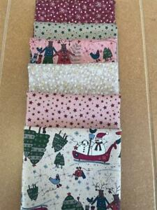 LYNETTE ANDERSON - WINTER PLAYGROUND  - 6 FAT EIGHTH BUNDLE - CHRISTMAS