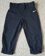 Nike Vapor Pro 747233-011 Youth Black Baseball Pants High Cuff Boys Size L