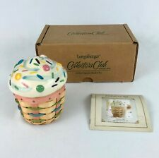 Longaberger Collectors Club Little Cupcake Basket Set Combo 2006 New in Box