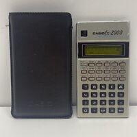 Casio Fx-2000 Scientific Calculator Vintage Rare Collectible