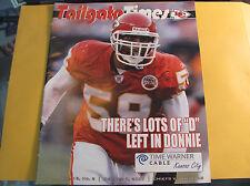 Kansas City Chiefs 10-7 2007 Tailgate Times Gameday Program DONNIE EDWARDS
