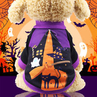 Halloween Pet Small Dog Clothes Costume Funny Dressup Warm Jumper Winter Apparel