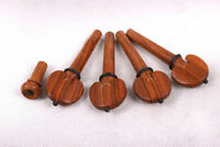 4pcs Rosewood Violin Pegs With Ebony Circle for 4/4 Violin Peg String Adjuster