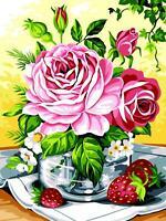 SEG de Paris Tapicería / Bordados Lienzo – Verano Flores (Verrine D'Ete )
