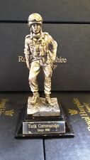 """Royal Hampshire """"Tank Commander Gulf 1991"""" Silver Pewter Figure"""