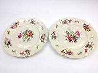 "Vintage Royal Bayreuth Bavaria Garden Flowers 7 7/8"" Salad Plate Set of 2"