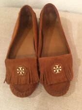 Tory Burch- Brown Snyder Fringe Moccasin Size 8 1/2
