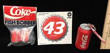 Coca Cola Fishing Bobbers 43 Decal Sticker & Foam Float Key Chain Lot 3 Coke