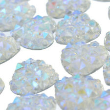 Wholesale 100Pcs Charms Silver Heart Shape Faced Flat Back Resin Beads DIY 10mm