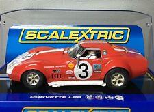 1 32 SCALEXTRIC C3229 DISCONTINUED RED/WHITE CORVETTE STINGRAY L88 slot car