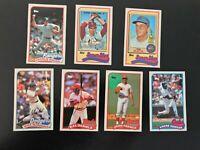 1989 Topps Baseball Talk Collection 7 Card Lot Steve Carlton Seaver + More
