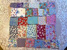Lot of Vintage Novelty Feed Sack Fabric Quilt Scraps Remnants Flour Sacks