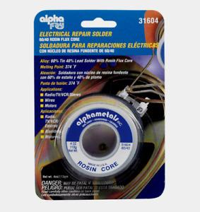 Alpha Fry 60/40 ROSIN FLUX CORE Electrical Repair Solder Lead Alphametals 31604