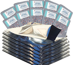 PackFreshUSA 100 Pack One Gallon Genuine Mylar Bags + 500cc Oxygen Absorbers