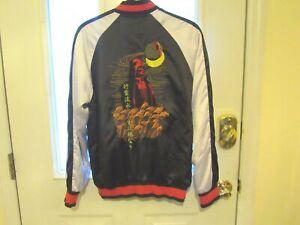 STAR WARS Jacket Sz S Disney Darth Vader Satin Embroidered Bomber Unisex RARE