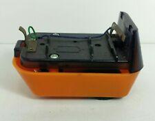 Vintage Plastic Toy Electric Car Bottom Part Orange Battery
