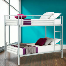 Mecor Metal Bunk Bed, Twin - Silver