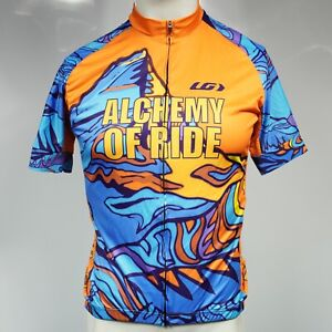Louis Garneau Slick Bicycle Jersey Size Large Canadian Rockies Alchemy of Ride!