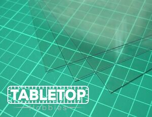 Single Sheet Clear Transparent Plasticard Sheet Model Making Glazing Scenery