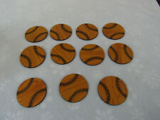 """11 3"""" Finished Wood Baseball Rounds For Trophy Plaques Or Crafts New"""