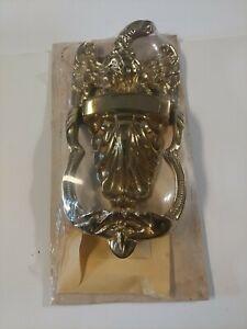 Vtg Virginia Metalcrafters Solid Polished Brass Eagle Door Knocker