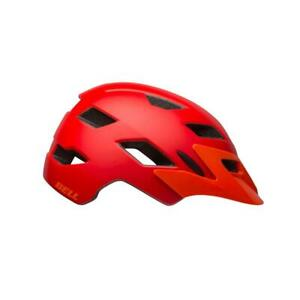 Bell Sidetrack Bicycle Cycle Bike Youth Helmet Matt Red / Orange - 50-57 CM