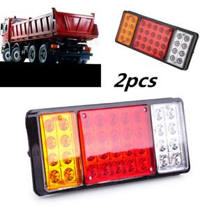 2x 12V 36LED Tail Lights Rear Ute Trailer Caravan Truck Boat Car Indicator Lamp