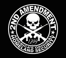 2ND AMENDMENT GUN Vinyl Decal Sticker Truck Window Car Laptop White