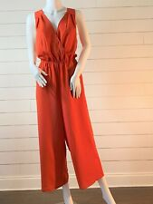 BCBG MAXAZRIA Women's Red Clay Party Cocktail Woven Jumpsuits Sz M & L NWT $168