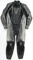 Top DAINESE Mako Gr. 48 Zweiteiler Lederkombi schwarz grau Leathers Suit