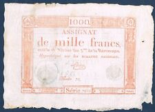 FRANCE - ASSIGNAT.1000 FRANCS MUS n° 51 du 7-1-1795. en TTB  serie 7696