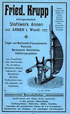 Fried. Krupp AG Annen i West. acciaieria navale storica la pubblicità di 1912