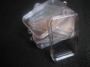 1/2 Doz Acrylic Airtight Cases for 1 Oz bars w/ the hanging tab w/free U.S S&H