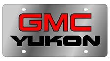 New GMC Yukon Red Logo Stainless Steel License Plate