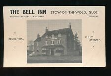 Gloucestershire STOW-ON-THE-WOLD Bell Inn prop C K Gazzard Advert c1960s? PPC