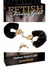 manette color oro con polsini neri cuffs gold fetish fantasy sexy toy