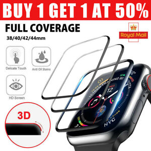 Full Cover Tempered Glass Screen Protector For Apple Watch Series 38/40/42/44mm