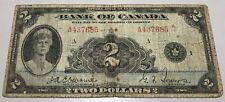1935 Bank of Canada $2 - Cat#BC-3 - Catalogue Value $110