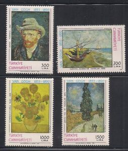 Turkey   1954   Sc # 2481-84  Painting(Van Gogh)   MNH   (53104)