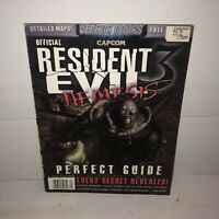GOOD Capcom Official RESIDENT EVIL 3 Nemesis Versus Books Perfect Guide Secrets