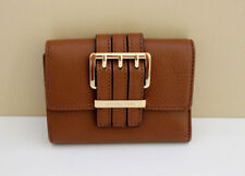 NEW-MICHAEL KORS GANSEVOORT MEDIUM TRIFOLD LUGGAGE BROWN LEATHER CLUTCH WALLET
